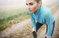 Exercício da manhã Imagens de Stock