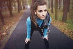 Exercício da manhã Fotografia de Stock Royalty Free