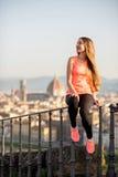 Exercício da manhã em Florença fotografia de stock