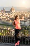 Exercício da manhã em Florença imagens de stock