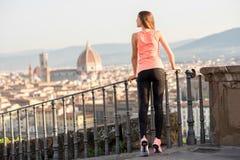 Exercício da manhã em Florença imagem de stock royalty free