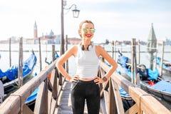 Exercício da manhã em Veneza imagem de stock royalty free