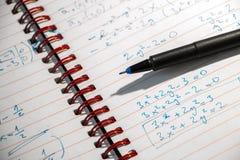 Exercício da matemática na noite fotografia de stock royalty free