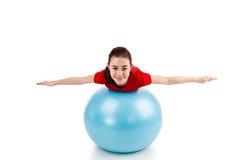 Exercício da menina Fotos de Stock Royalty Free
