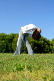 Exercício da menina Imagem de Stock
