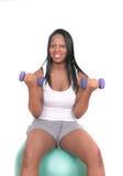 Exercício da mulher do americano africano Imagens de Stock