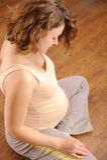 Exercício da mulher gravida Fotos de Stock