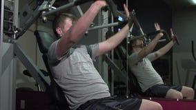 Exercício da parte superior do corpo video estoque