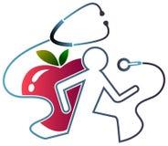 Exercício da saúde ilustração royalty free