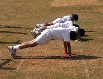 Exercício das crianças Fotografia de Stock