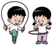 Exercício das crianças Fotos de Stock Royalty Free