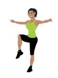 Exercício das mulheres da aptidão Imagens de Stock