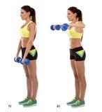 Exercício de braço foto de stock