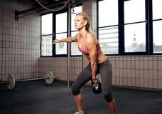 Exercício de Kettlebell Fotos de Stock