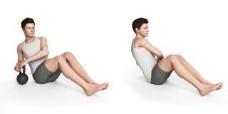 Exercício de Kettlebell Imagens de Stock Royalty Free