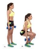 Exercício de pé foto de stock