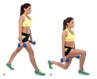 Exercício de pé imagem de stock