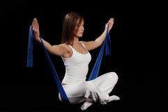 Exercício de Pilates Fotografia de Stock Royalty Free