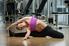 Exercício de Pilates Imagens de Stock