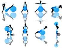 Exercício de Pilates fotos de stock royalty free