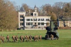 Exercício do helicóptero do exército e da força aérea fotos de stock