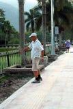 Exercício do homem idoso Fotografia de Stock
