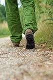 Exercício do homem que anda no parque Imagem de Stock Royalty Free