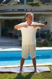 Exercício do homem sênior Imagens de Stock Royalty Free
