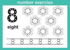 Exercício do número oito ilustração royalty free