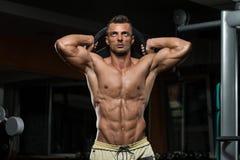 Exercício do tríceps com peso Fotografia de Stock Royalty Free