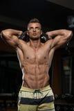 Exercício do tríceps com peso Imagens de Stock