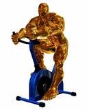 Exercício dourado ilustração do vetor