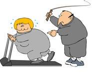 Exercício duro ilustração stock