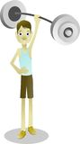 Exercício e halterofilismo da força de músculo para os ossos saudáveis Fotografia de Stock
