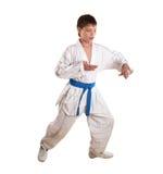 Exercício em taekwondo Fotos de Stock Royalty Free
