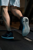 Exercício em um close-up da escada rolante Imagem de Stock