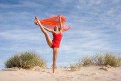 Exercício fêmea novo bonito Fotos de Stock
