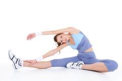 Exercício físico no assoalho Imagem de Stock Royalty Free