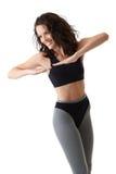 Exercício feliz da mulher Fotografia de Stock