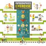 exercício Infographics Fotografia de Stock Royalty Free