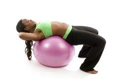 Exercício latino-americano bonito da mulher do americano africano Foto de Stock Royalty Free