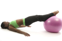 Exercício latino-americano bonito do americano africano Imagem de Stock Royalty Free