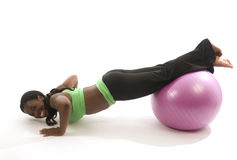 Exercício latino-americano da mulher do americano africano Foto de Stock Royalty Free