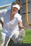 Exercício maduro da mulher Imagens de Stock