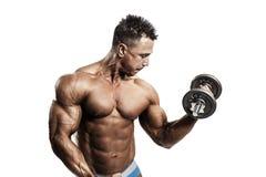 Exercício muscular do homem Fotos de Stock Royalty Free
