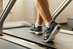 Exercício na escada rolante Fotografia de Stock Royalty Free