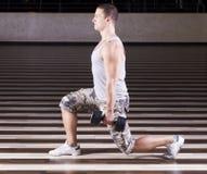 Exercício na ginástica Imagens de Stock