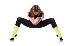 Exercício novo da ginasta Imagem de Stock Royalty Free