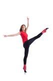 Exercício novo da ginasta Fotografia de Stock
