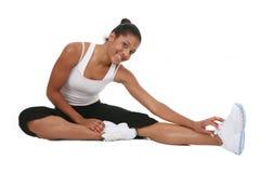 Exercício novo feliz da fêmea do americano africano Foto de Stock Royalty Free